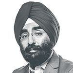 A headshot of the quote author, Jagdeep Bachher